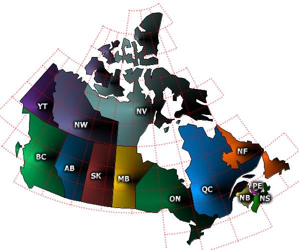 Canada's topo map index