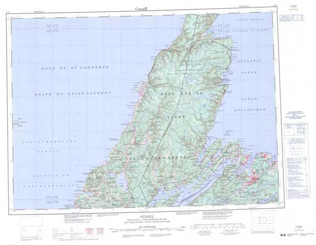 Sydney Topographic Maps Free Online, NTS 011K, NS