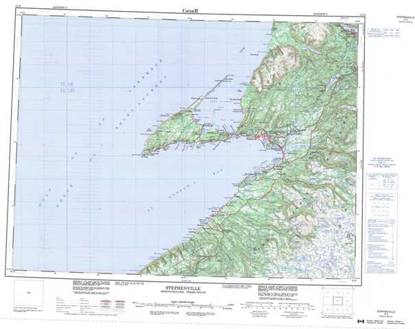 Printable Stephenville Topographic Map 012B at 1:250,000 scale