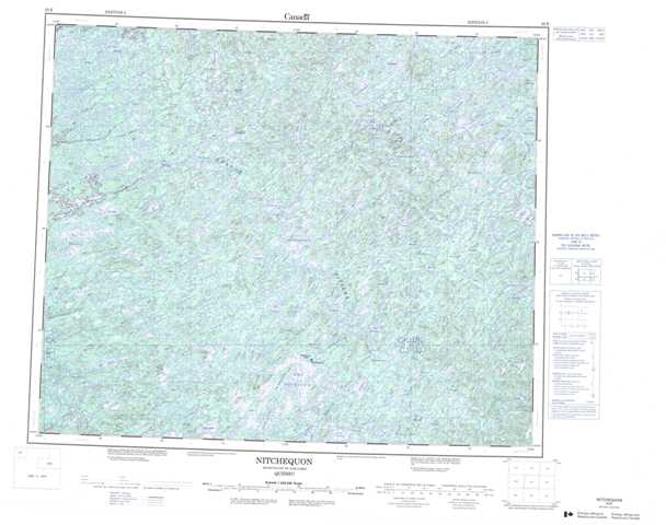 Printable Nitchequon Topographic Map 023E at 1:250,000 scale