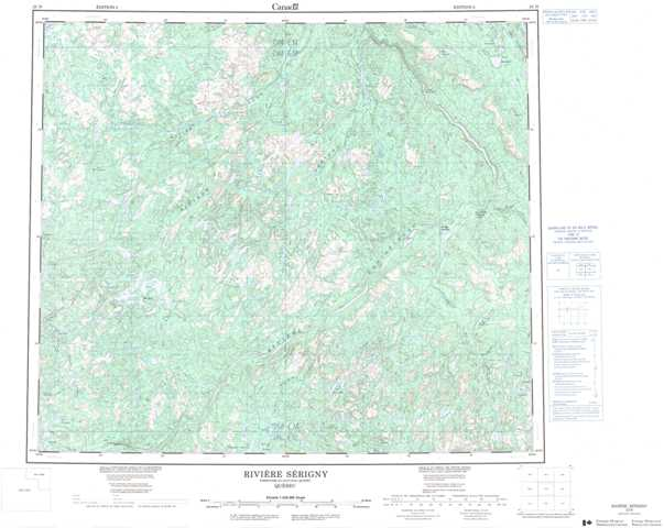 Printable Riviere Serigny Topographic Map 023N at 1:250,000 scale
