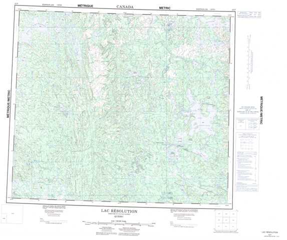 Printable Lac Resolution Topographic Map 023P at 1:250,000 scale