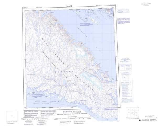 Printable Grinnell Glacier Topographic Map 025J at 1:250,000 scale