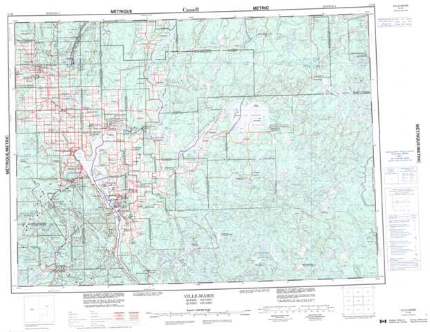 Printable Ville-Marie Topographic Map 031M at 1:250,000 scale