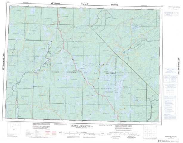 Printable Grand-Lac-Victoria Topographic Map 031N at 1:250,000 scale