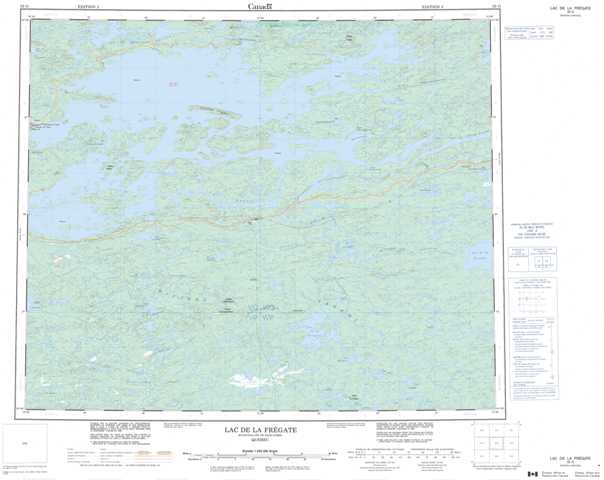 Printable Lac De La Fregate Topographic Map 033G at 1:250,000 scale