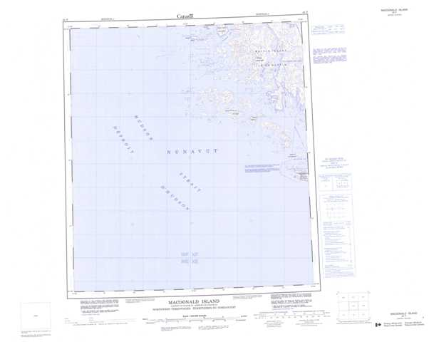 Printable Macdonald Island Topographic Map 035P at 1:250,000 scale