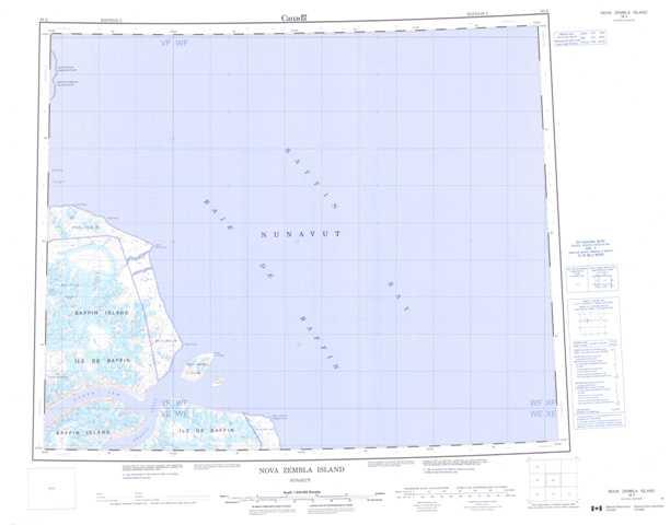Printable Nova Zembla Island Topographic Map 038A at 1:250,000 scale