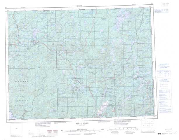 White River Topographic Map that you can print: NTS 042C at 1:250,000 Scale