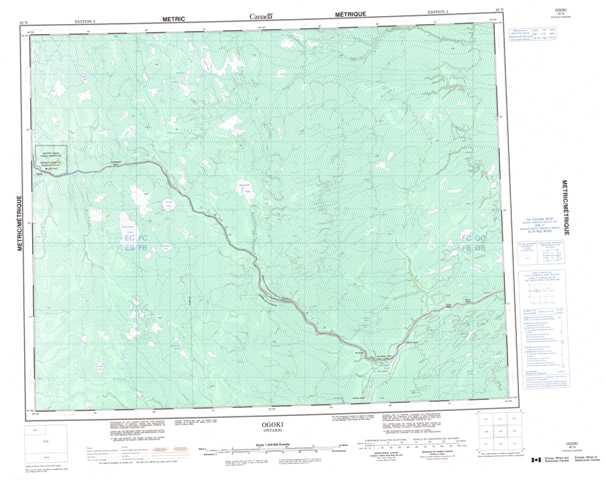 Printable Ogoki Topographic Map 042N at 1:250,000 scale