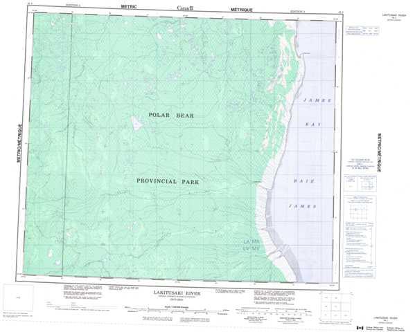 Printable Lakitusaki River Topographic Map 043J at 1:250,000 scale