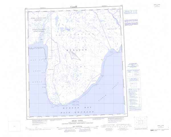 Printable Bear Cove Topographic Map 045N at 1:250,000 scale