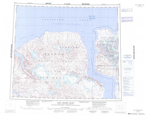 Printable Navy Board Inlet Topographic Map 048D at 1:250,000 scale