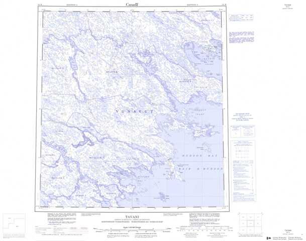 Printable Tavani Topographic Map 055K at 1:250,000 scale
