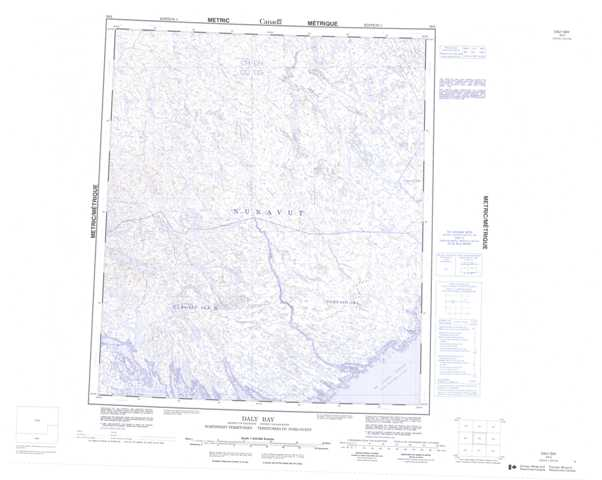 Printable Daly Bay Topographic Map 056A at 1:250,000 scale