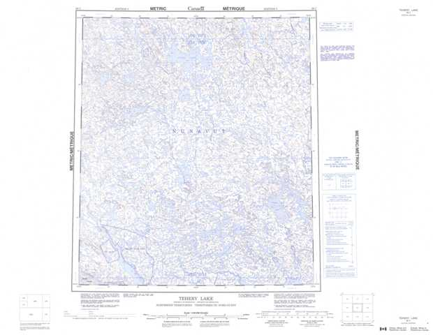 Printable Tehery Lake Topographic Map 056C at 1:250,000 scale