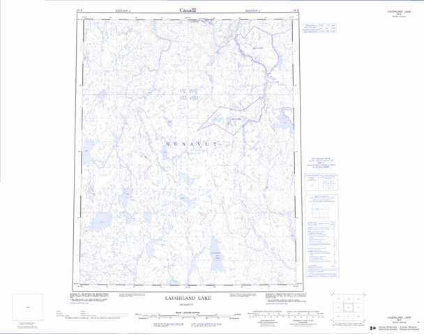 Printable Laughland Lake Topographic Map 056K at 1:250,000 scale