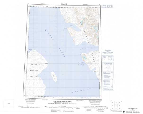 Printable Haig-Thomas Island Topographic Map 059F at 1:250,000 scale