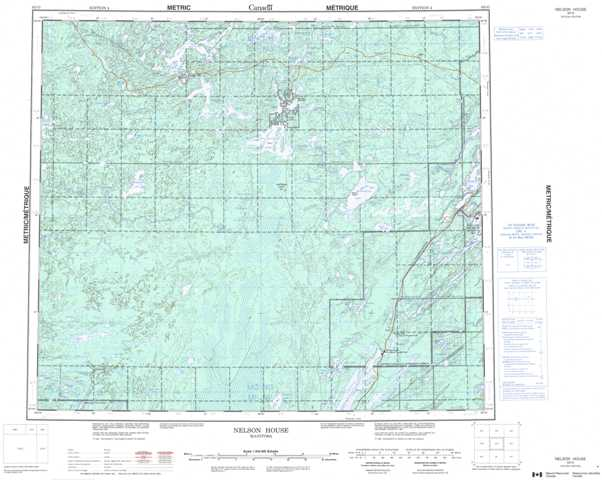 Printable Nelson House Topographic Map 063O at 1:250,000 scale