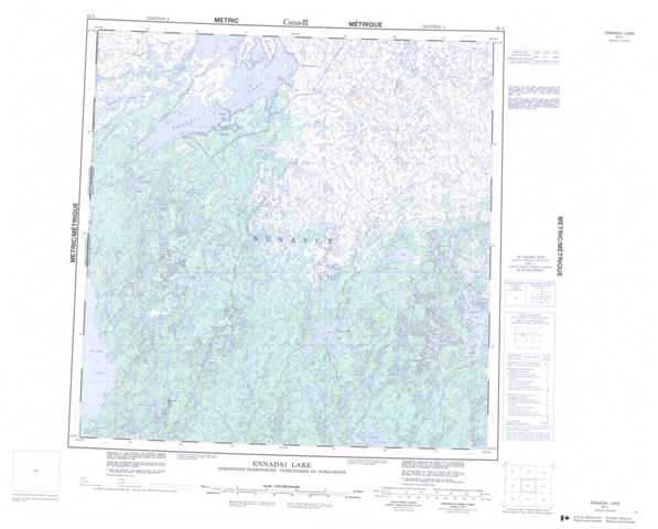 Printable Ennadai Lake Topographic Map 065C at 1:250,000 scale