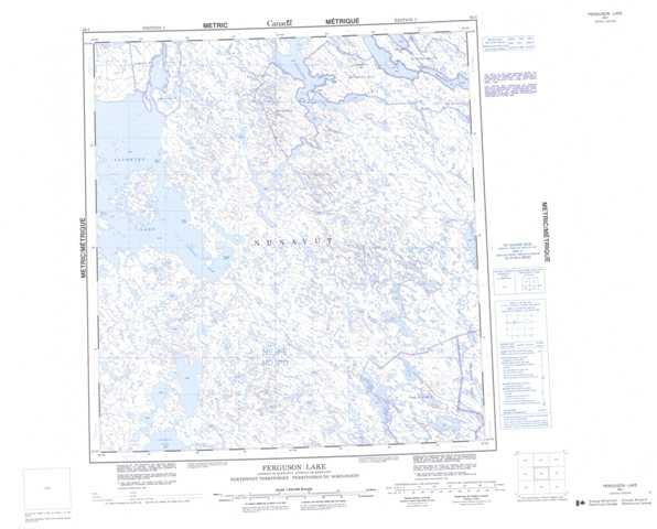 Printable Ferguson Lake Topographic Map 065I at 1:250,000 scale