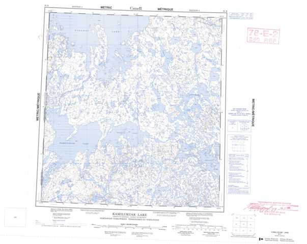 Printable Kamilukuak Lake Topographic Map 065K at 1:250,000 scale