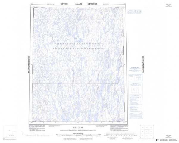 Printable Joe Lake Topographic Map 066J at 1:250,000 scale