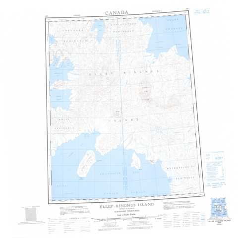 Printable Ellef Ringnes Island Topographic Map 069F at 1:250,000 scale