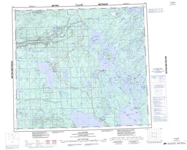 Printable La Loche Topographic Map 074C at 1:250,000 scale
