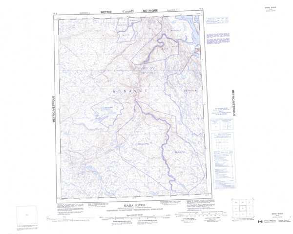 Printable Mara River Topographic Map 076K at 1:250,000 scale