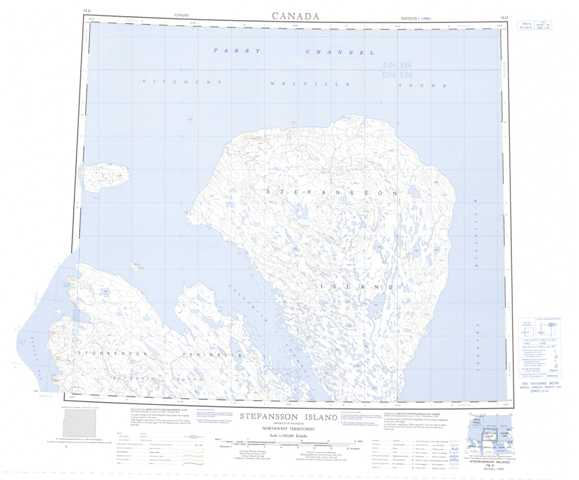 Printable Stefansson Island Topographic Map 078D at 1:250,000 scale