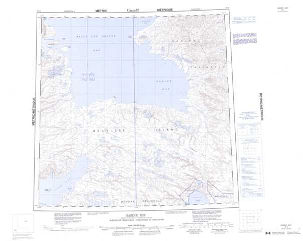 Printable Sabine Bay Topographic Map 078G at 1:250,000 scale