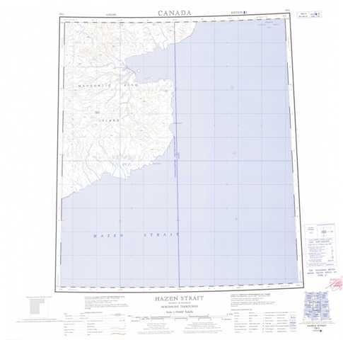 Printable Hazen Strait Topographic Map 079C at 1:250,000 scale