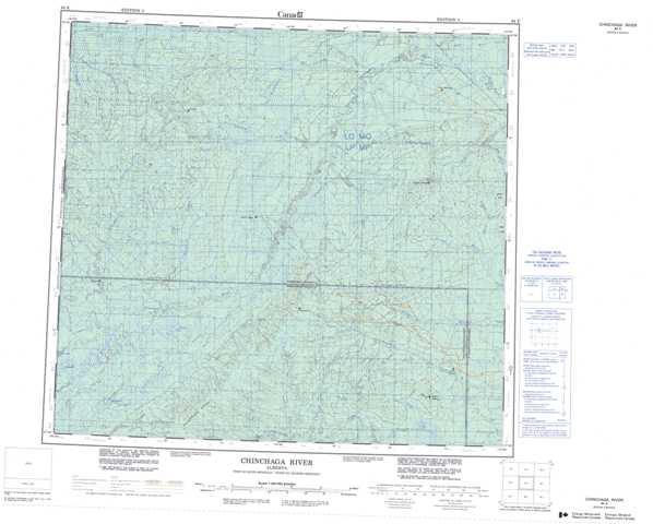 Printable Chinchaga River Topographic Map 084E at 1:250,000 scale