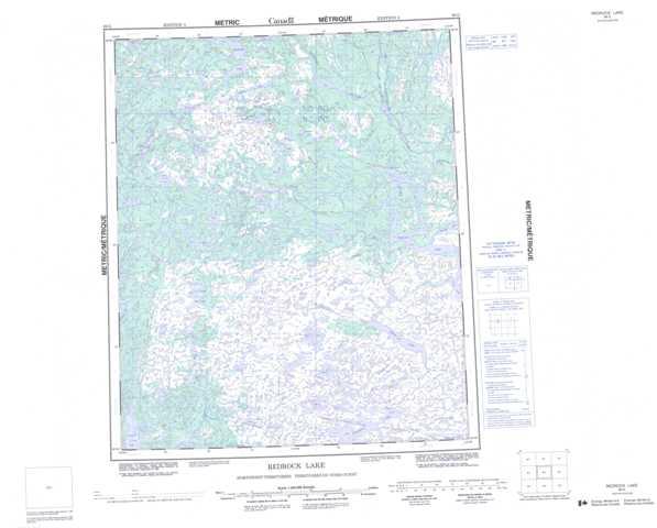 Printable Redrock Lake Topographic Map 086G at 1:250,000 scale