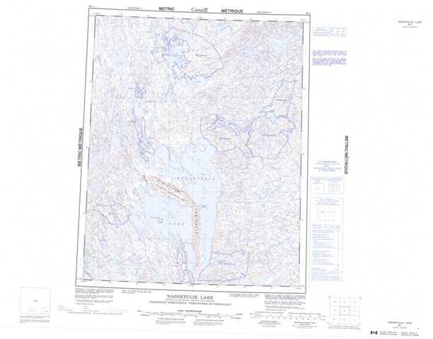 Printable Napaktulik Lake Topographic Map 086I at 1:250,000 scale