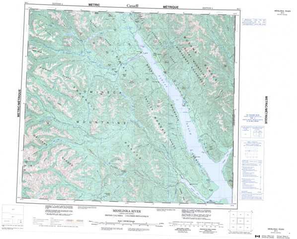 Printable Mesilinka River Topographic Map 094C at 1:250,000 scale