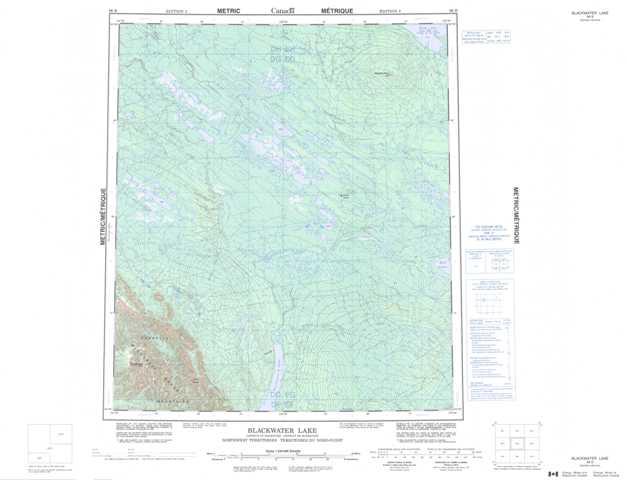 Printable Blackwater Lake Topographic Map 096B at 1:250,000 scale