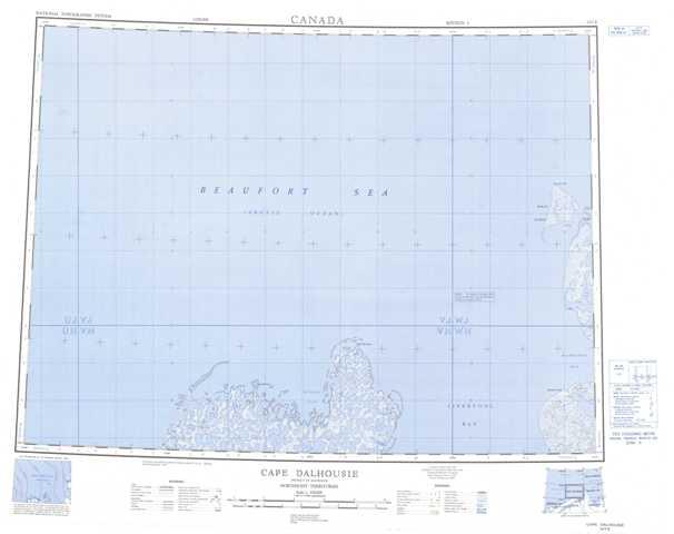 Printable Cape Dalhousie Topographic Map 107E at 1:250,000 scale