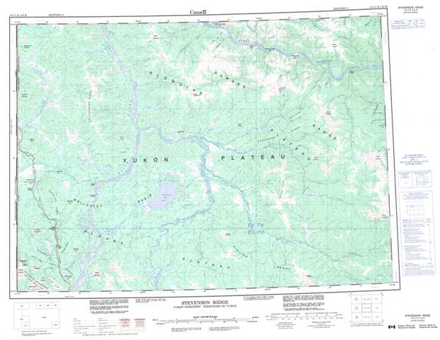 Printable Stevenson Ridge Topographic Map 115J at 1:250,000 scale