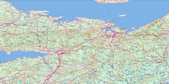 Truro Topo Map 011E at 1:250,000 Scale