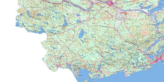 Fredericton Topo Map 021G at 1:250,000 Scale