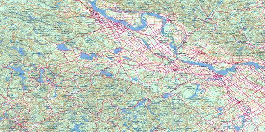 Pembroke Topo Map 031F at 1:250,000 Scale