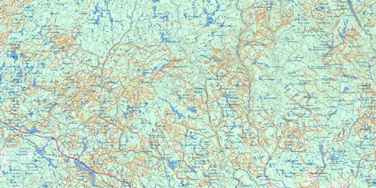 Riviere Mistassini Topo Map 032H at 1:250,000 Scale