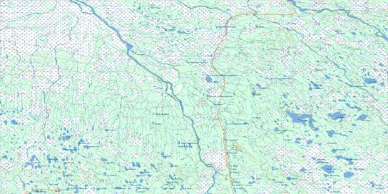 Riviere Harricana Topo Map 032L at 1:250,000 Scale