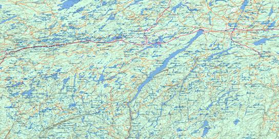 Longlac Topo Map 042E at 1:250,000 Scale