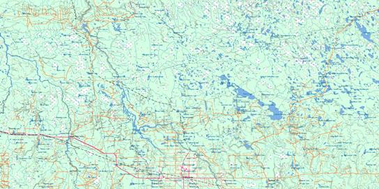 Cochrane Topo Map 042H at 1:250,000 Scale