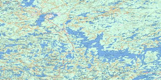 Lac Seul Topo Map 052K at 1:250,000 Scale