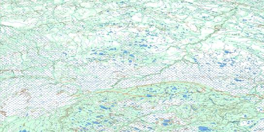 Kaskattama River Topo Map 054B at 1:250,000 Scale