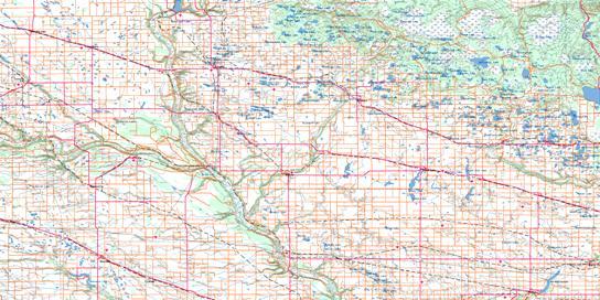Riding Mountain Topo Map 062K at 1:250,000 Scale